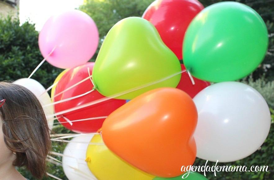 racimo de globos de helio