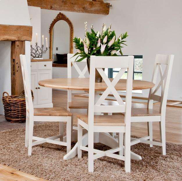 Small Country Table And Chairs: Small Round KITCHEN Table And 4 Chairs