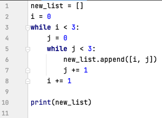 Nested while loops in Python