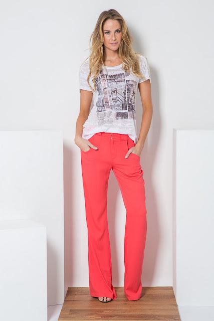 Blog Achados de Moda, looks com calças coloridas