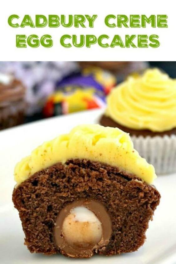 Cadbury Creme Egg Cupcakes Recipe