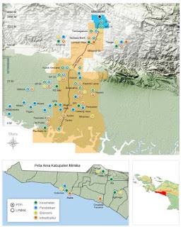 peta CSR PTFI - sumber: web official PTFI