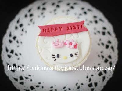Baking Art By Joey Happy 21st Birthday Hello Kitty Pink