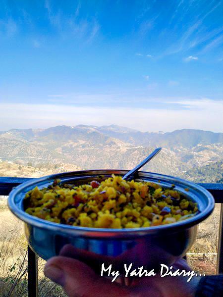 Breakfast at Rosewood Dhanachuli Retreat, Uttarakhand