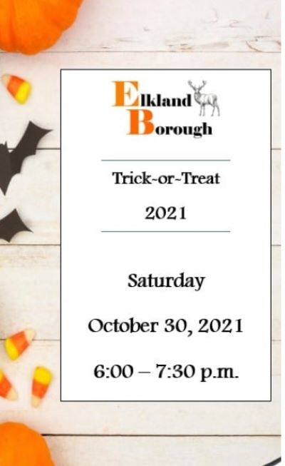 10-30 Trick or Treat, Elkland Borough