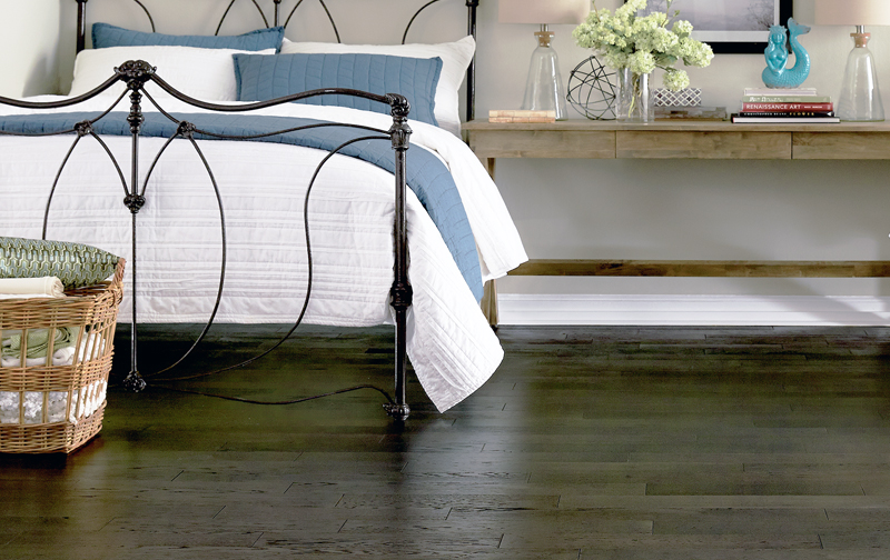 Hardwood is a practical, allergy-friendly, and beautiful flooring choice for any bedroom