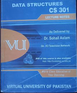 CS301 handouts pdf download || Data Structure || VU Books For Sale