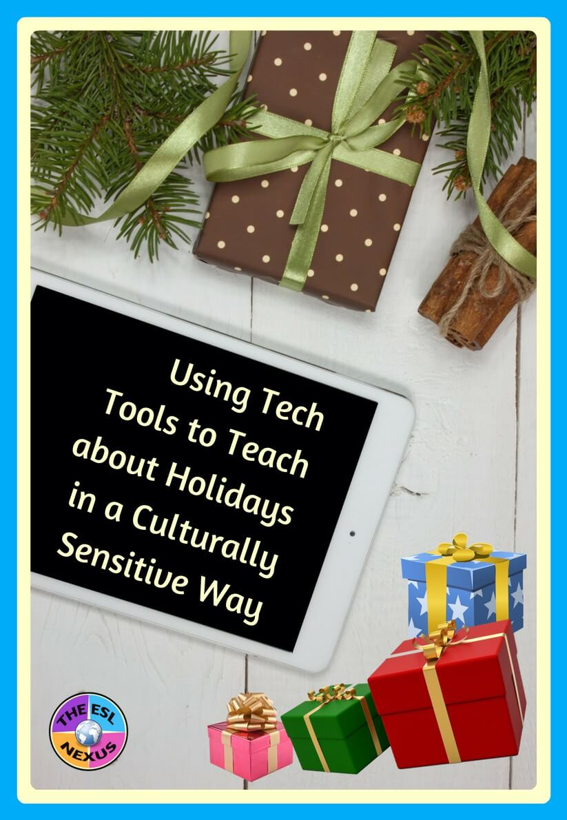 Come & join the discussion about using tech tools to teach about holidays in a culturally sensitive way in the #ELLEdTech Twitter chat on 11/19/17 | The ESL Nexus