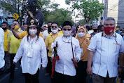 SSK-SS disambut Dengan Sholawad Nabi dan Tarian Kabasaran di KPU Manado