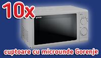 Castiga 10 cuptoare cu microunde Gorenje - concurs - popcorn - carrefour - castiga.net