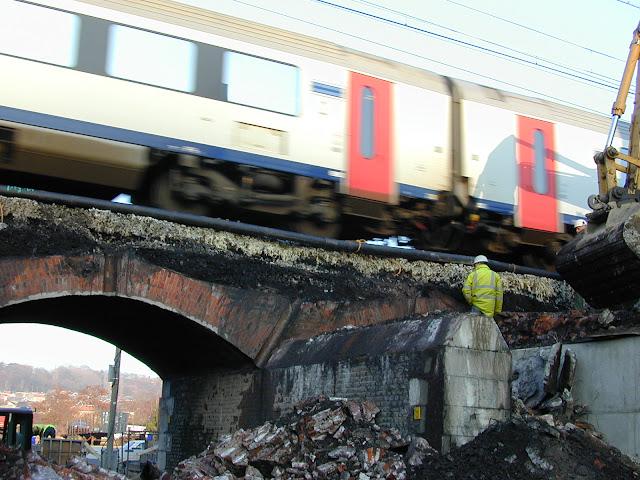 Kabelzagen spoorbrug - Bruggewelf zagen - Diabeton