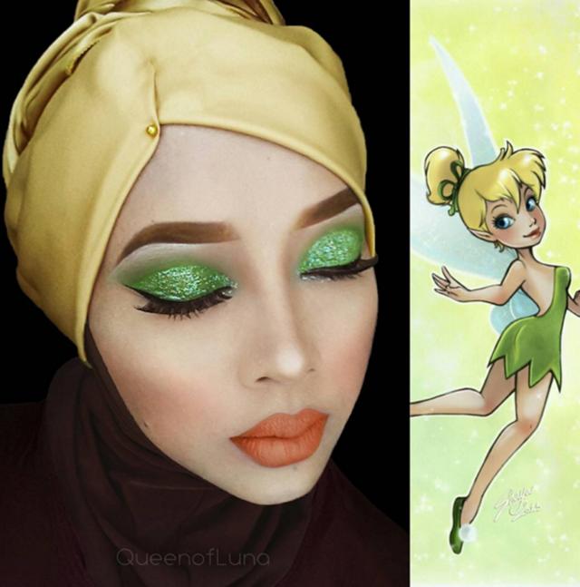 (GAMBAR) Jurusolek Wanita Malaysia Cetus Perhatian Netizen, Tampil Hijab Ala Watak Kartun Disney!