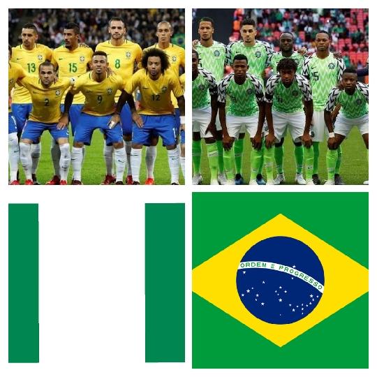 مباراة ودية بين البرازيل ونيجيريا
