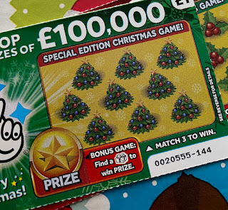 £1 Green Christmas Scratchcard