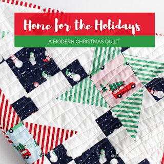 Home for the Holidays - a modern Christmas quilt | Shannon Fraser Designs #christmasquilt
