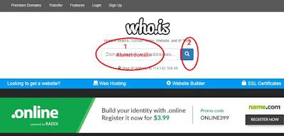 Cara mengtahui identitas pemilik domain Website