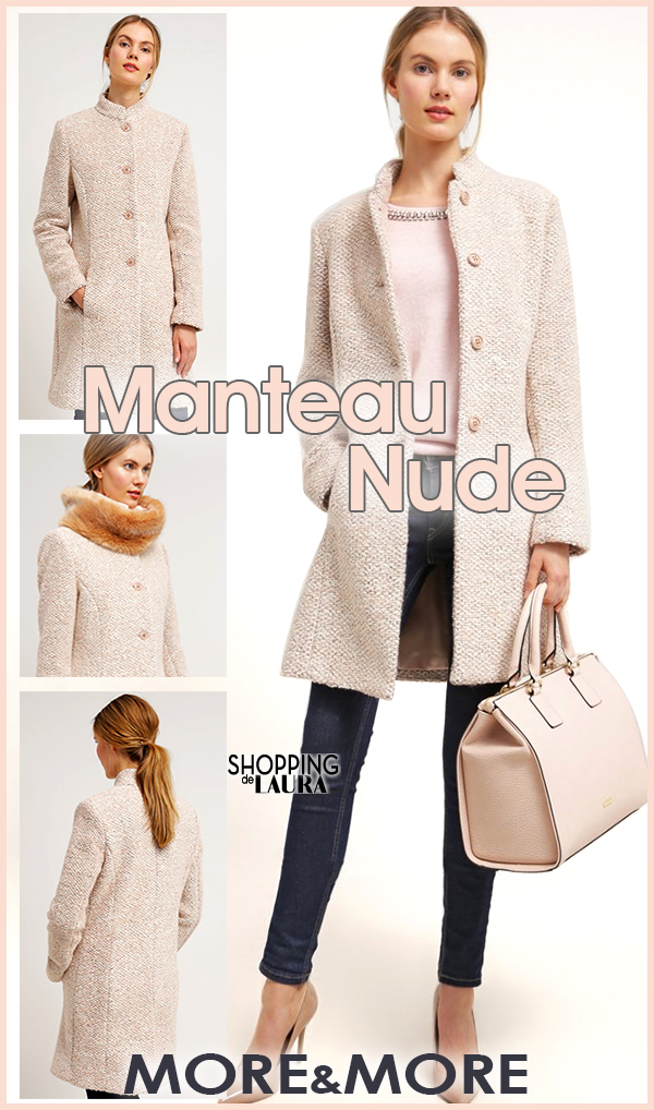 Manteau en laine nude More&More