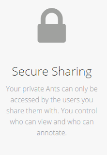 Your private Ants can only be accessed by the users you share them with. You control who can view and who can annotate.