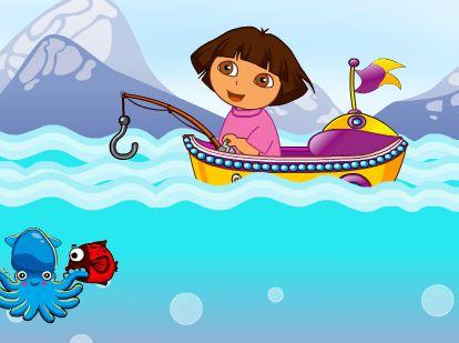 Play Dora Fishing Adventure Game