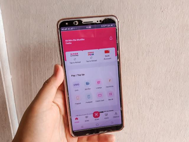 tampilan aplikasi simobiplus di layar smartphone
