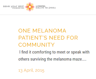 http://saveyourskin.ca/one-melanoma-patients-need-for-community/