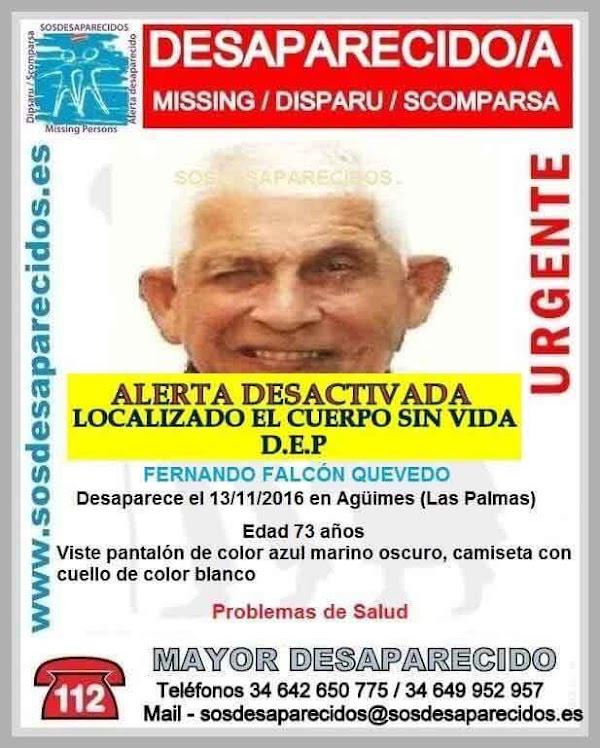Localizan el cuerpo sin vida de hombre desaparecido de Agüimes