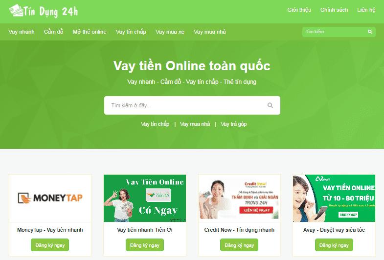 Template blogspot tiếp thị liên kết dịch vụ tín dụng vay tiền