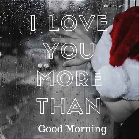 Good morning Rainy romantic image