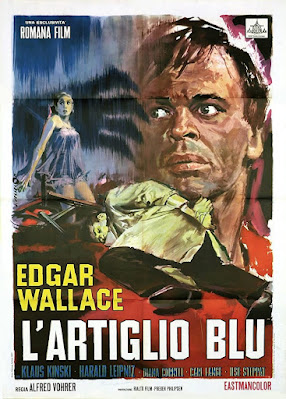 Creature with the blue hand, poster, Klaus Kinski, Edgar Wallace, Rialto