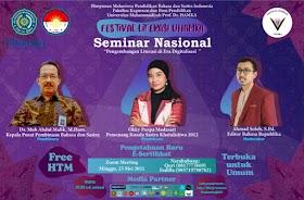 Seminar Nasional Literasi di Era Digital Bersama Okky Madasari