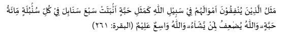 """Qur""""an surah Al-Baqarah ayat 261"""