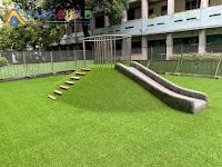 土堤式遊具人工草皮施工