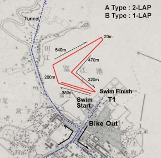 スイムコースのマップ