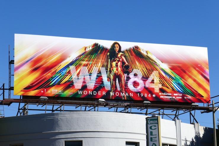 Wonder Woman 1984 movie billboard
