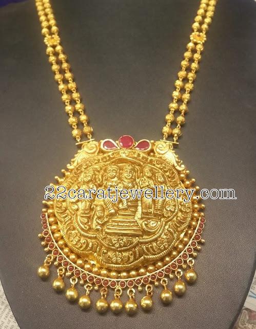Ram Seeta Necklace in Silver Metal