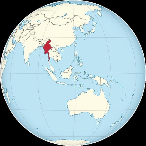 Letak negara Myanmar