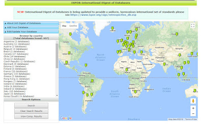 Image of ISPOR International Digest of Databases website