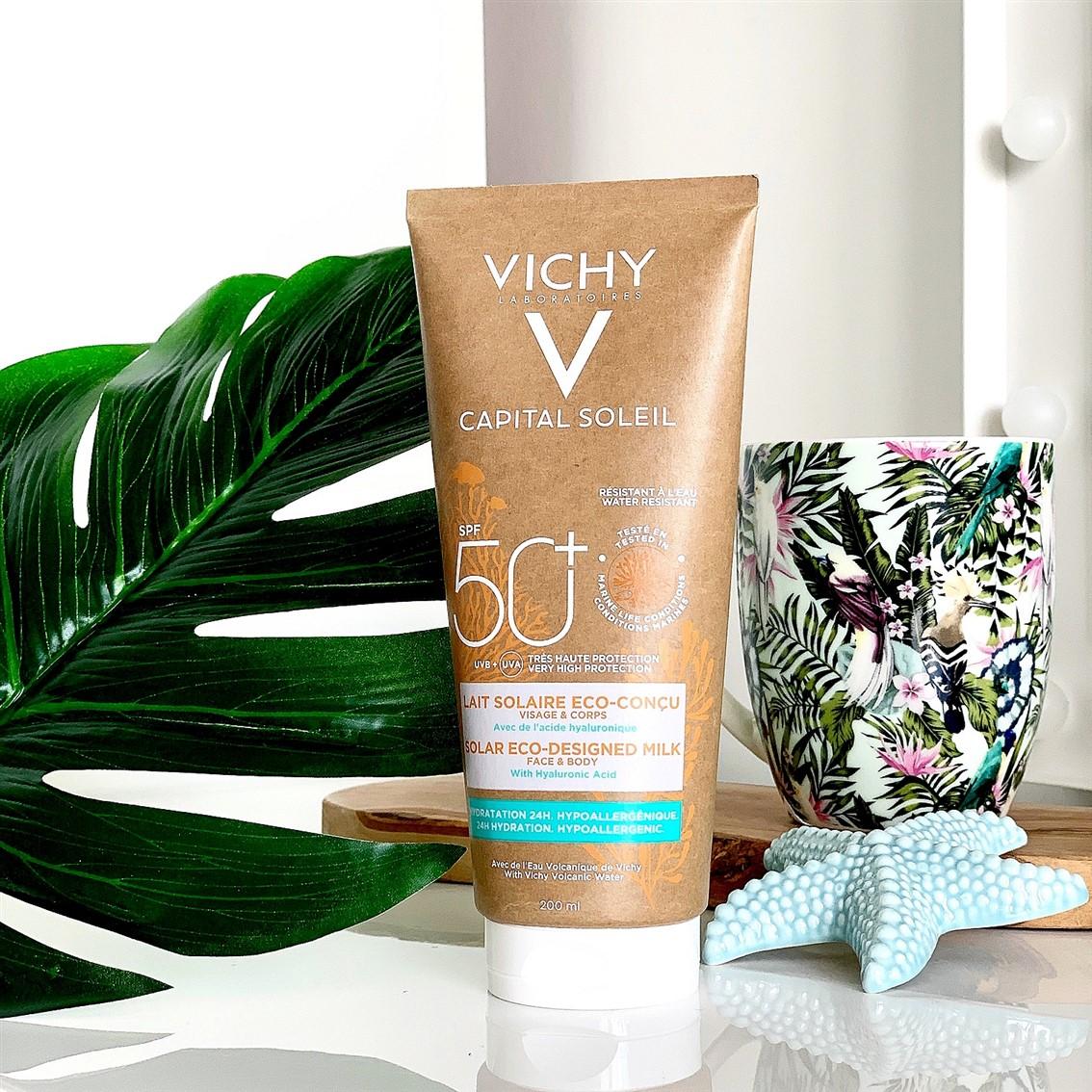 Vichy Capital Soleil Mleczko do opalania SPF50+ z kwasem hialuronowym recenzja