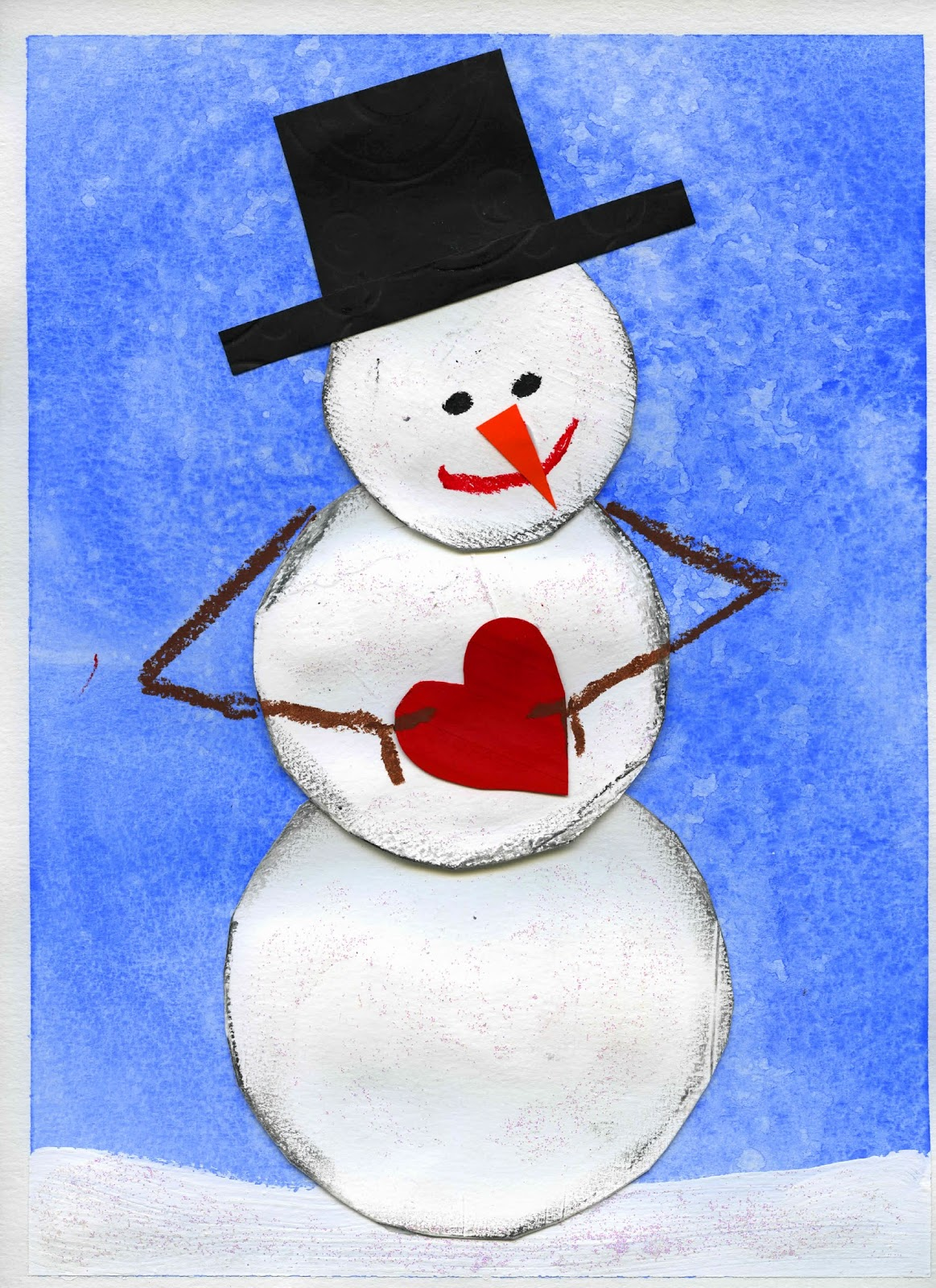 That artist woman winter projects for Snowman pocket tissues