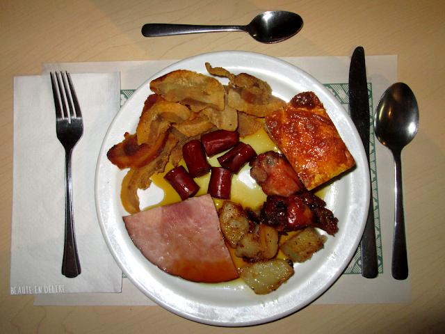 Ma suculante assiette durant mon souper de fête à la cabane JaRo.