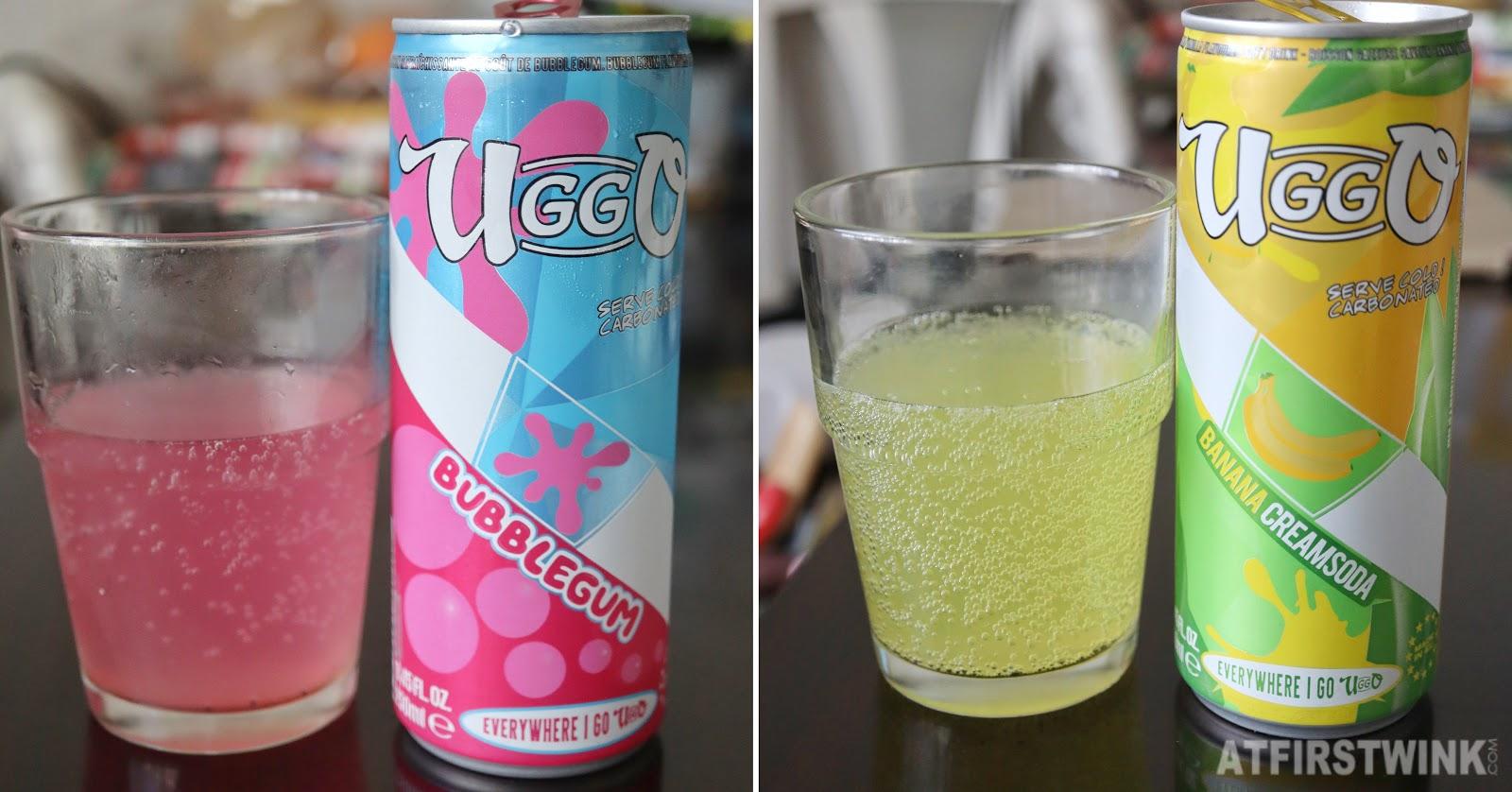 Uggo bubblegum soda banana cream drinks can