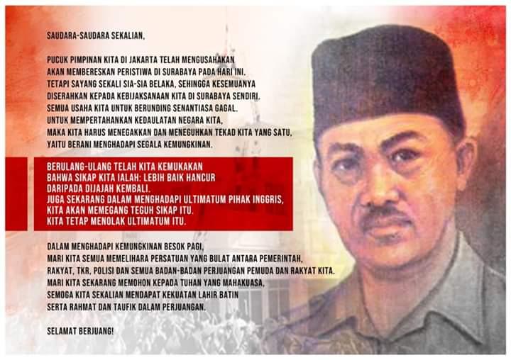 Hari Pahlawan, Prabowo: Lebih Baik Hancur daripada Dijajah