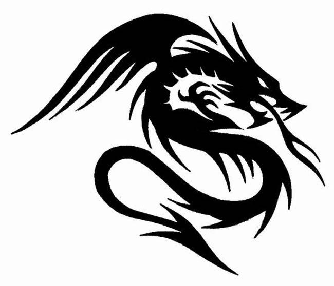 Tattoo Ideas Easy To Draw: TATTOOS: Dragon Tattoo Stencils # 3