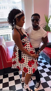 Kevin Hart and pregnant wife Eniko wear fifties clothing to mask-less birthday brunch