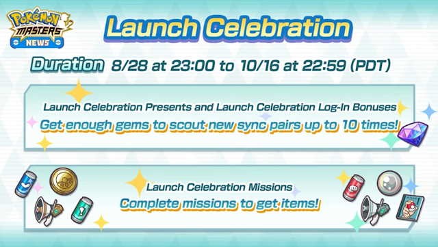 Pokemon Masters Launched Celebration