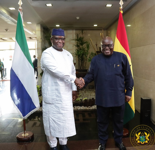 """Ghana, Sierra Leone Must Forge New, Strong Partnership For Co-Operation"" – President Akufo-Addo"