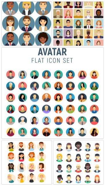 تحميل فكتور صورة رمزية لعشرات الشخصيات بجودة عالية