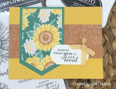 Stampin' Up!, Celebrate Sunflowers, www.stampingwithsusan.com, Gingham RIbbon