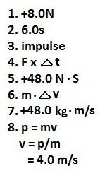 Physics1202-2010: Impulse and Momentum
