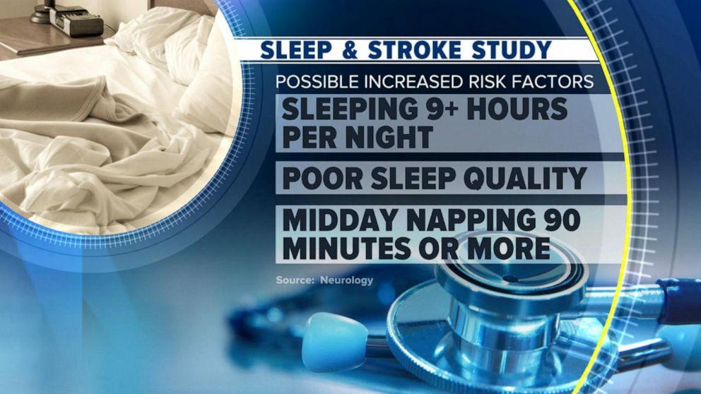 stroke, sleeping